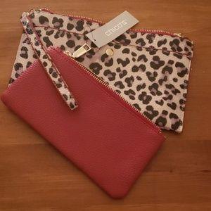 *NWT* Chico's Leopard Print & Red Two Piece Wristl
